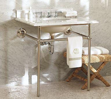 Apothecary Single Sink Console #potterybarn