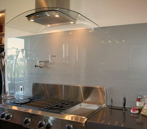 Solid Glass Backsplash Image Glass Backsplash Kitchen Kitchen