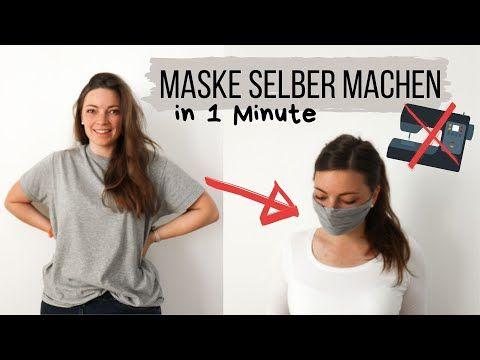 Maske in 1 Min selber machen OHNE NÄHEN | Maskenpflicht