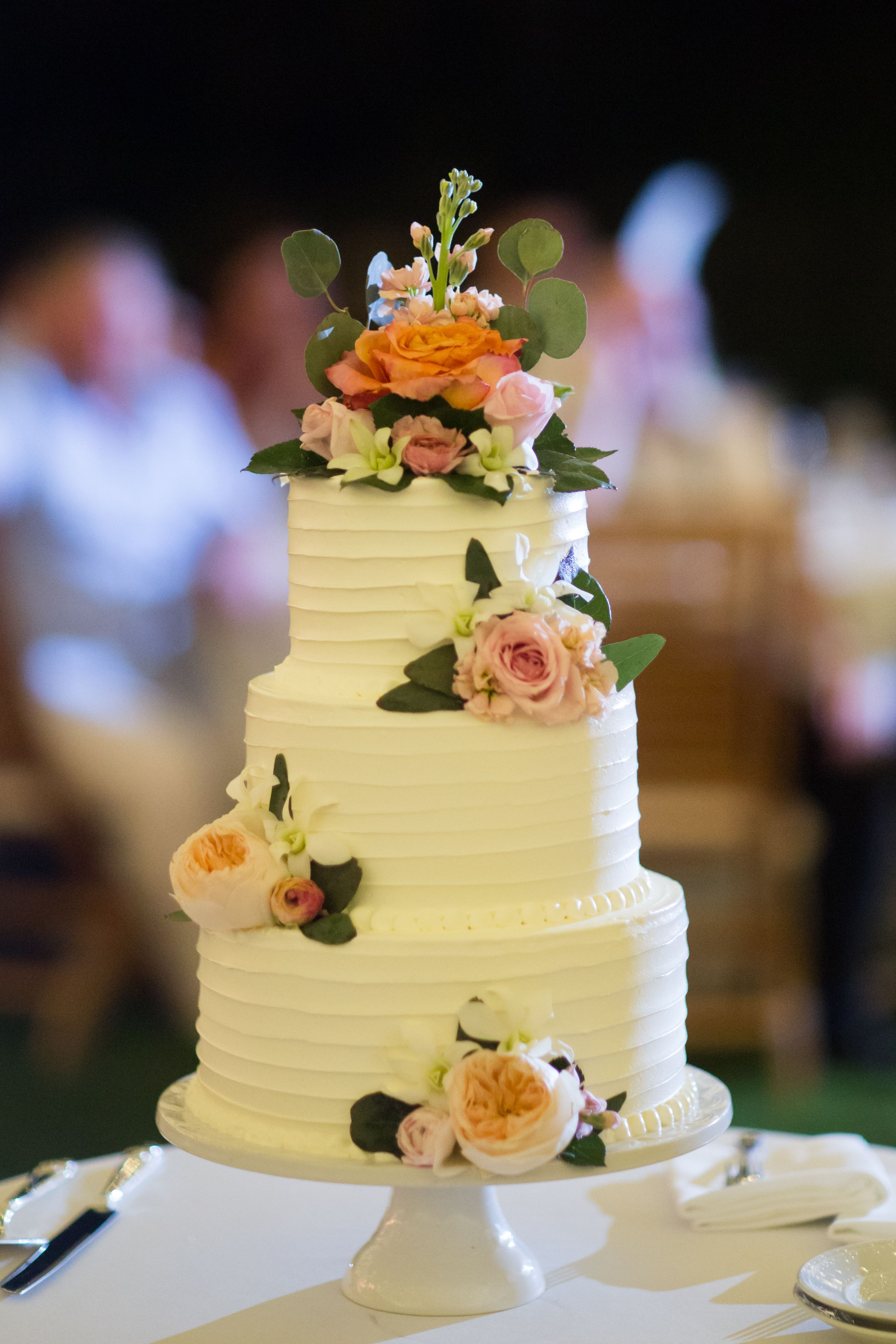 Andaz Maui at Wailea Resort Wedding Cakes 3 Tier Pink Buttercream ...