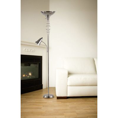 "Homestyle Collection Halo 71"" Torchiere Floor Lamp"