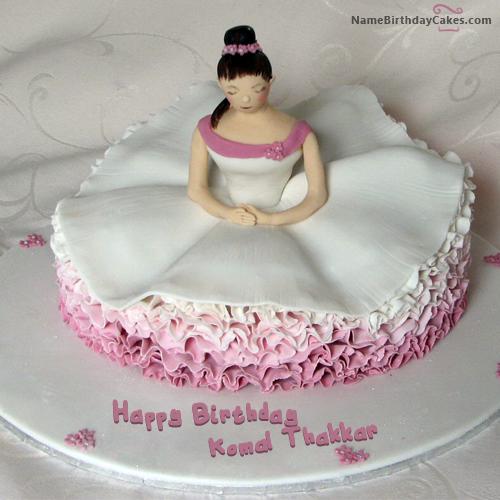 Birthday Cake For Dancer With Name Komal Thakkar Sejal Lalvani