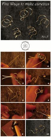 Photo of DIY jewelry making tutorial – how to make earwires in five ways. Basic W … – Stylebekleidung.com