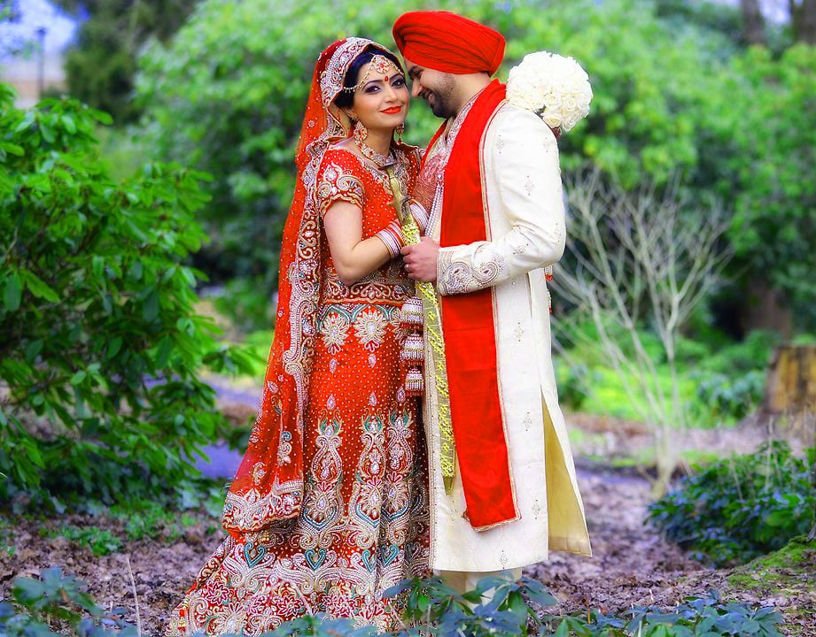 Sweet Cute Punjabi Wedding Lover Love Couple Photo Pictures