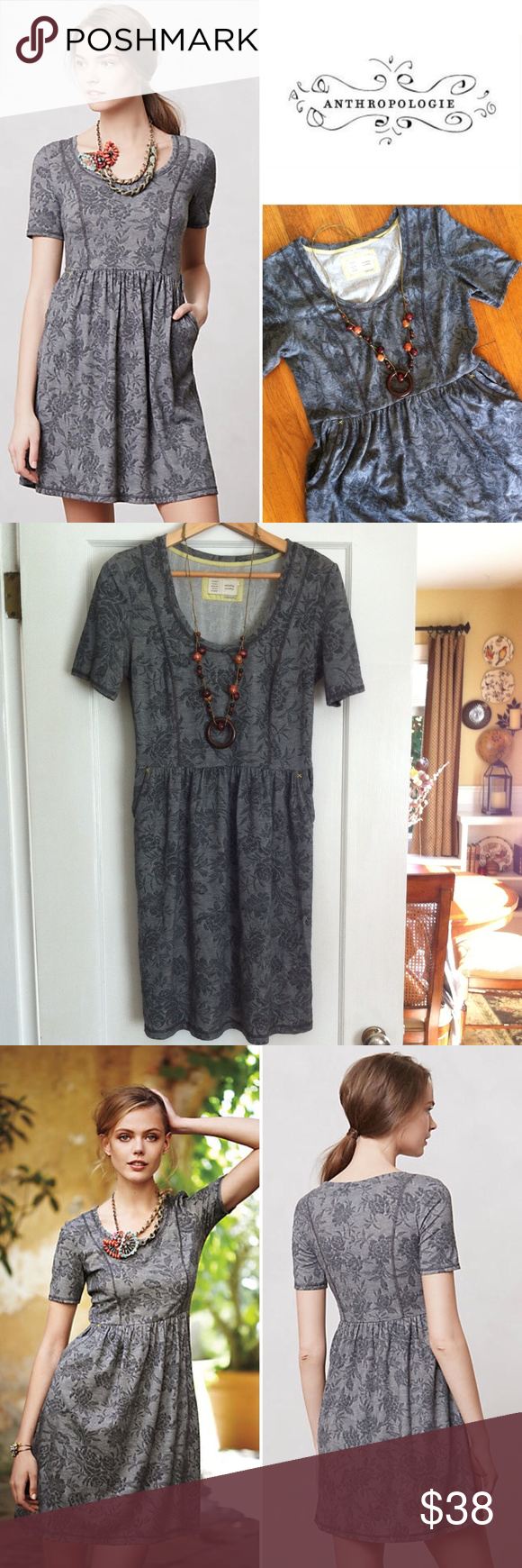 Saturday Sunday gray jacquard day dress Weekends call for