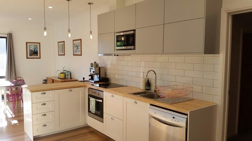 our ikea kitchen savedal cabinets birch worktops. Black Bedroom Furniture Sets. Home Design Ideas