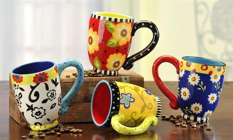 colorful ceramic mugs tasse pinterest keramik. Black Bedroom Furniture Sets. Home Design Ideas