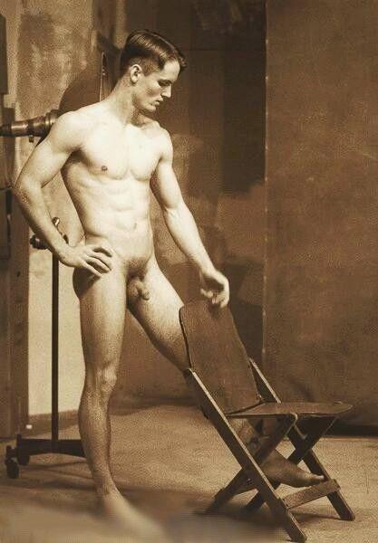 Vintage nude male art