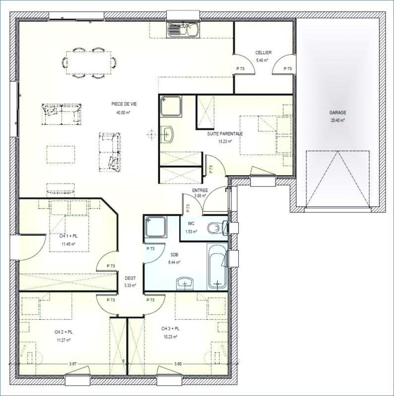 Maison Traditionnelle A Etage 120 M 4 Chambres 7