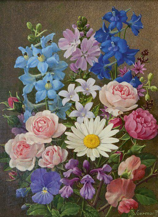 Jan  Voerman jr | 1890 - 1976 - Kleurrijk zomerboeket