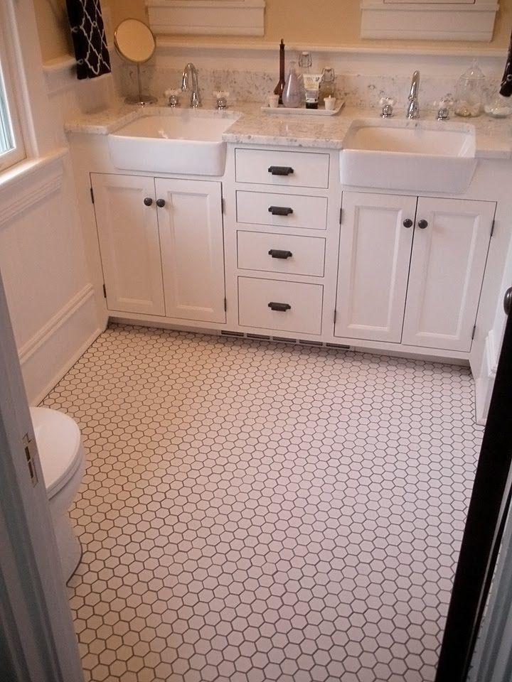 White Bathroom Farmhouse Bathroom Sink Tile Bathroom Bathrooms