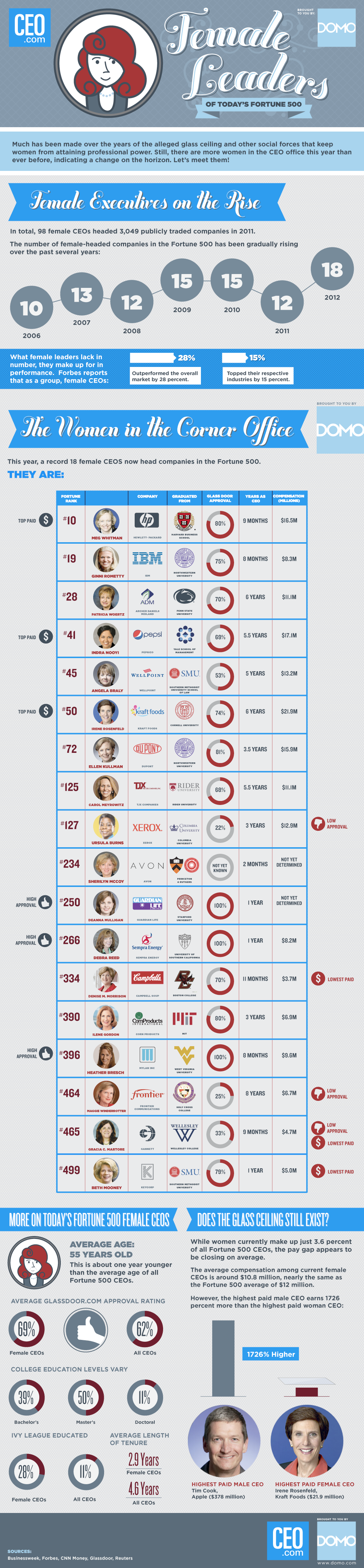 #Female #CEOs of the Fortune 500 #infographic