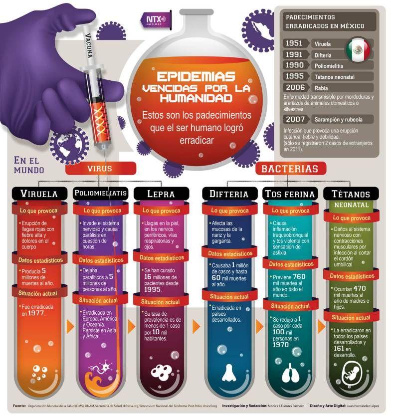 Infografía Epidemias vencidas por la humanidad   Pinterest   La ...
