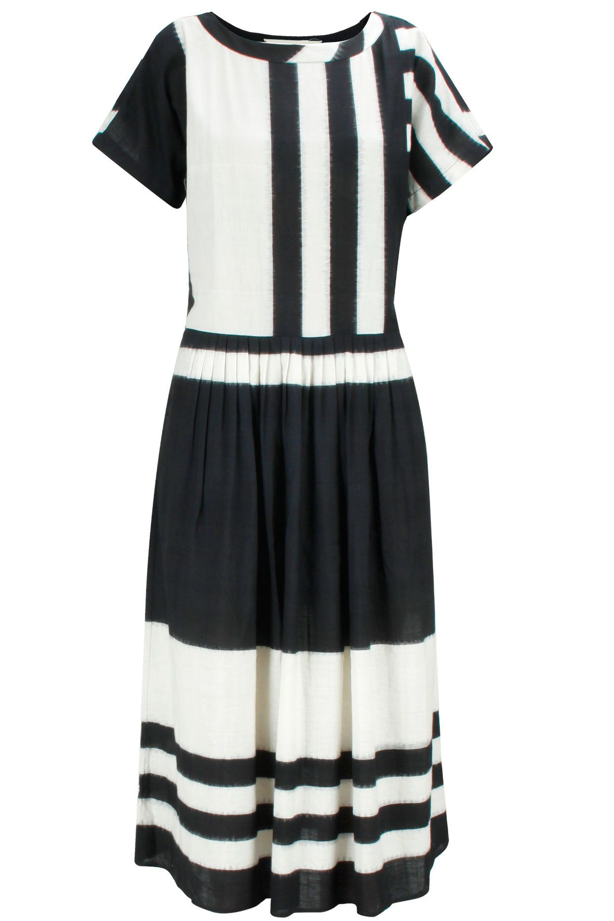 Black and white stripe print dress available only at Pernia's Pop-Up Shop.