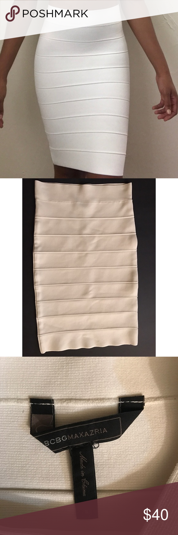 BCBGMAXAZRIA Bandage Skirt If you don't have one, make this one yours! Add some color on top! BCBGMaxAzria Skirts Midi