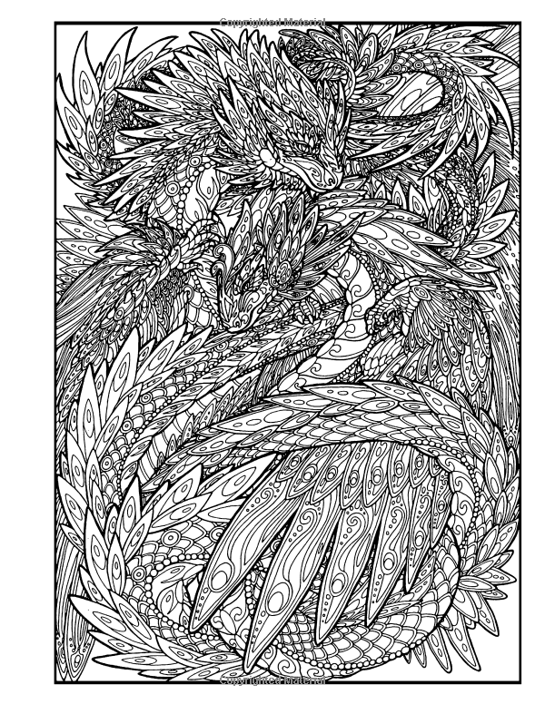 Amazon.com: Dragon Adventure: A Kaleidoscopia Coloring Book ...