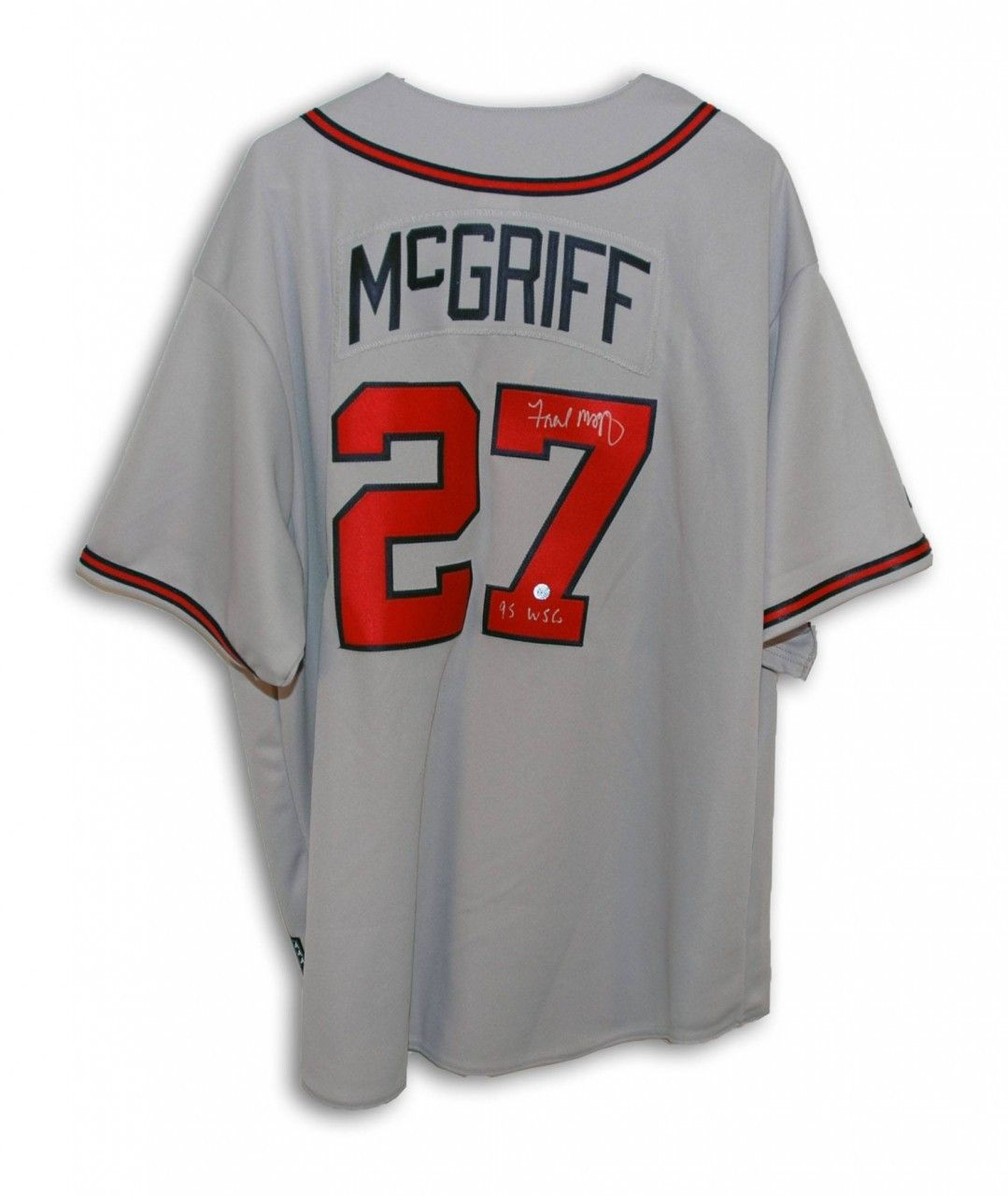 Aaa Sports Memorabilia Llc Fred Mcgriff Atlanta Braves Autographed Gray Majestic Jersey Inscribed 95 Wsc 269 95 Http Atlanta Braves Sports Hero Braves