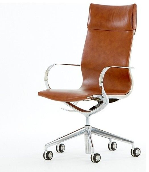 Tan Leather Office Chair | Leather Office Chair | Pinterest | Desks