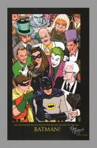 Batman '66 art print signed by Kevin Maguire.  Based on the classic television series starring Adam West and Burt Ward! #adamwest #batman #burtward #kevinmaguire