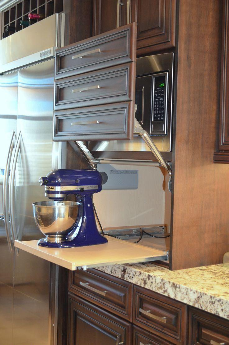 Cabinets appliance garages kitchen best garage ideas on ...
