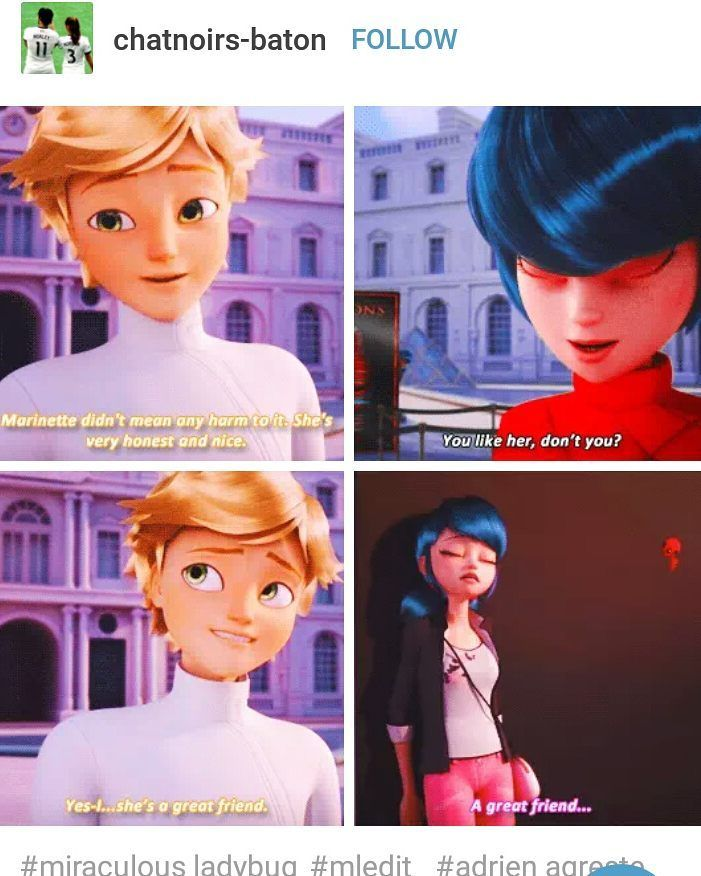 Credit: adrienxnette and chatnoirs-baton on Tumblr ADRIEN-- LADYBUG
