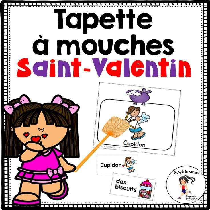 French Valentine Game Jeu Tapette A Mouches De La Saint Valentin Vocabulary Words Valentines Games Vocabulary Games