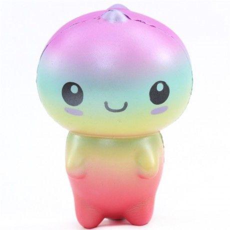 Connie Cute Colorful Rainbow Dinosaur Squishy Kawaii