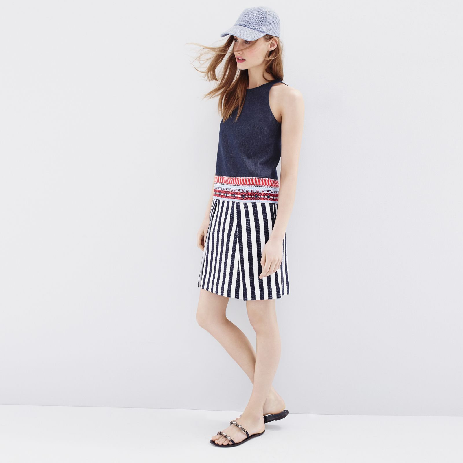 1867384d3be57 J.Crew Looks We Love  women s Collection chambray striped tapestry dress
