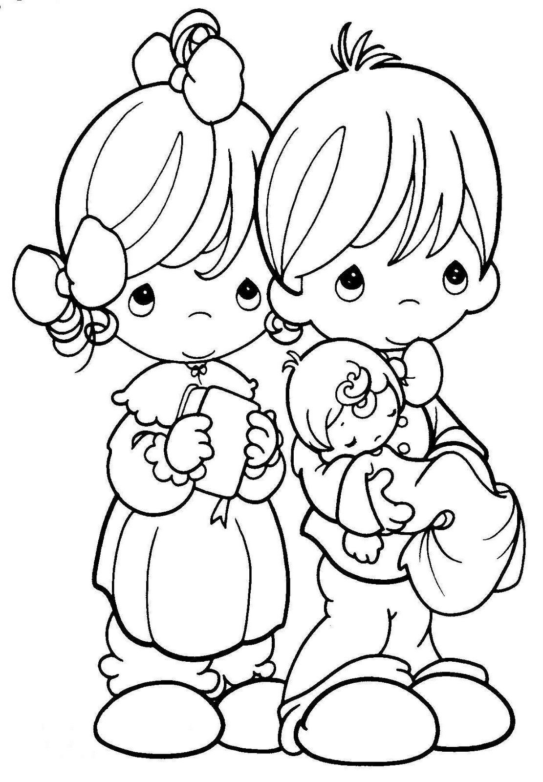 precious moments for love coloring pages bordado da lili