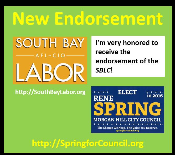 #springforcouncil #morganhill #voteforrene