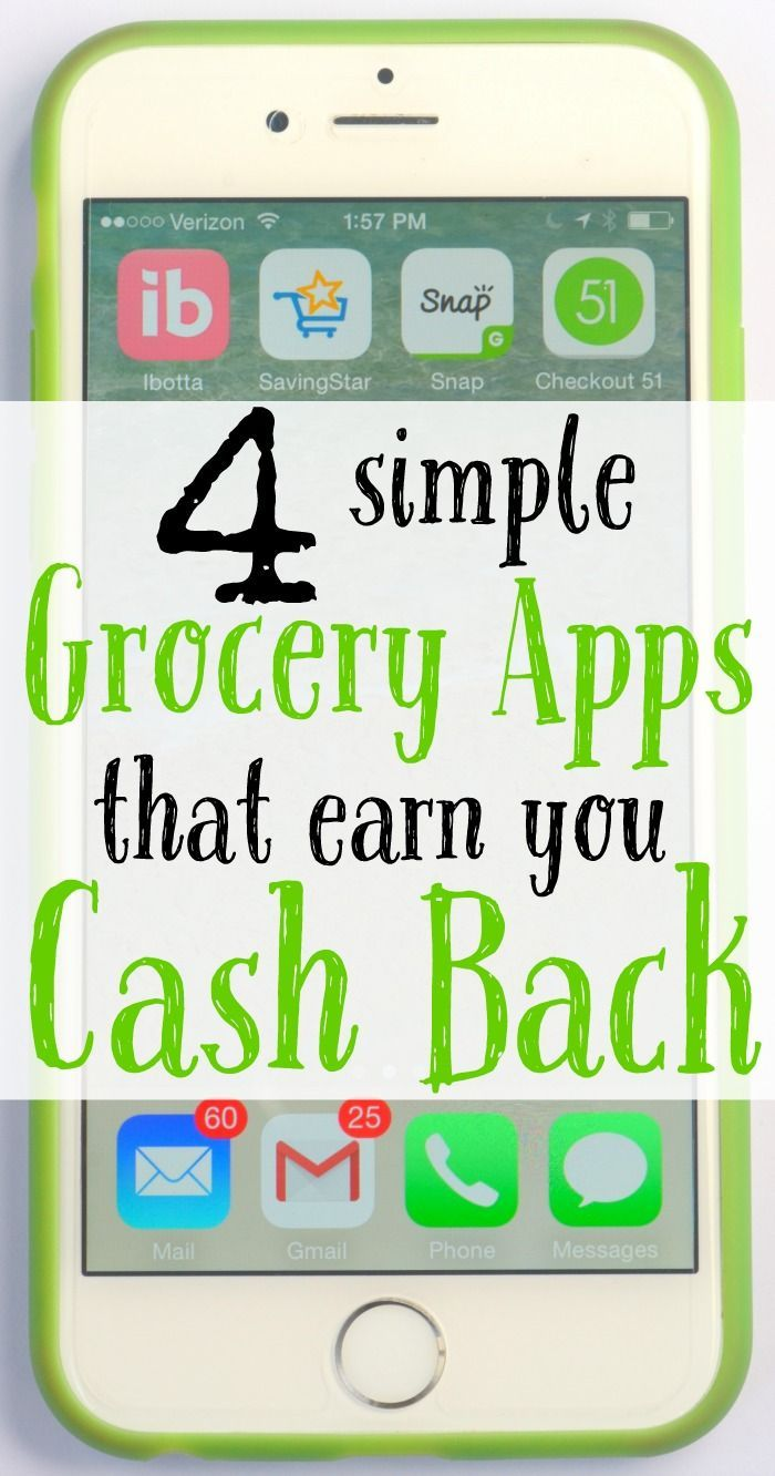 Earn Cash Back with these 4 Simple Grocery Apps App