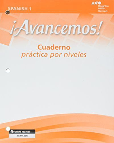 A Avancemos Cuaderno Practica Por Niveles Student Workbook With Review Bookmarks Level 1 Spanish Edition Workbook How To Speak Spanish Book Categories