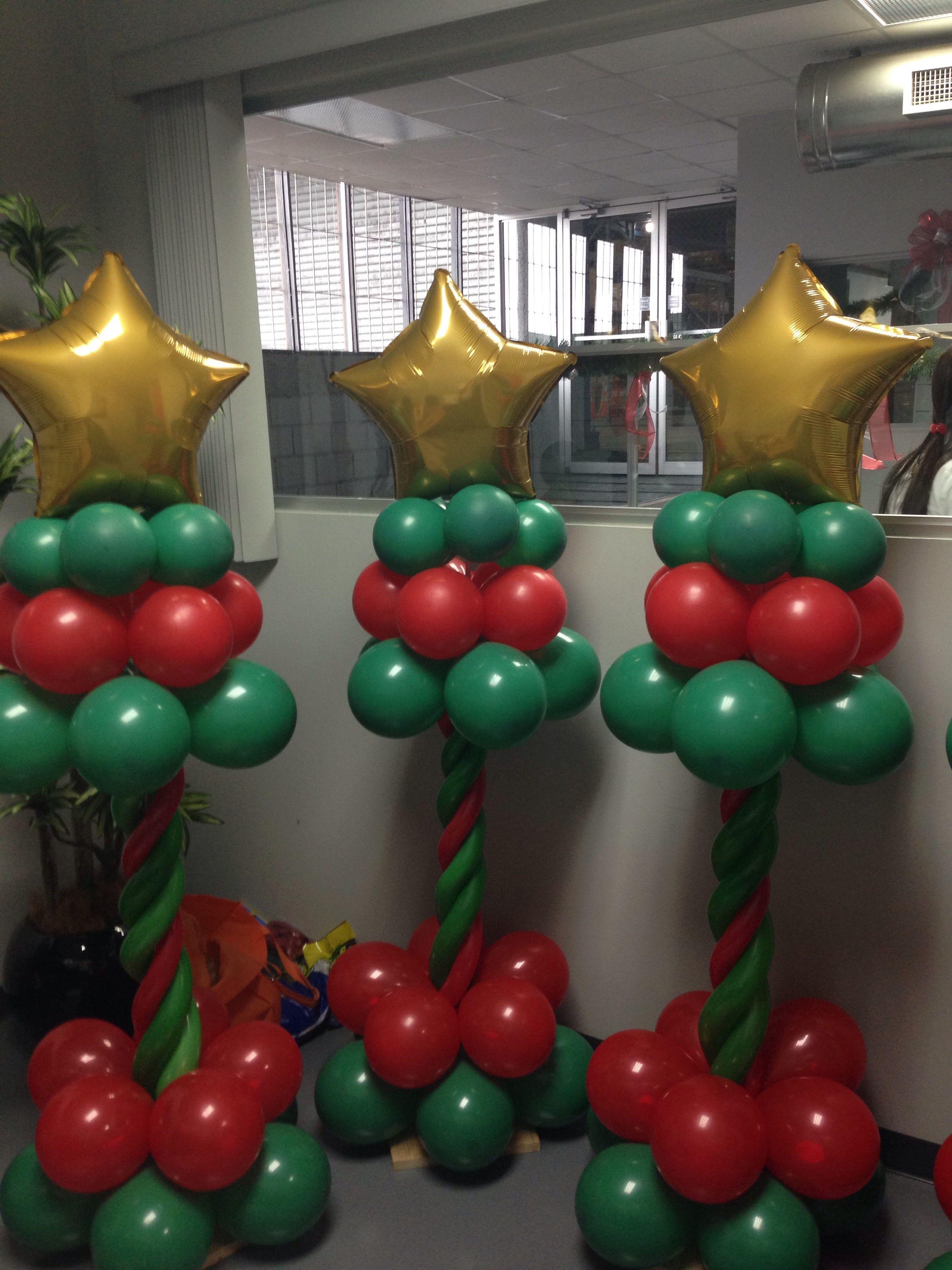 Torres con globos navide as navidad globos pinterest globo torre y navidad - Figuras navidenas para decorar ...