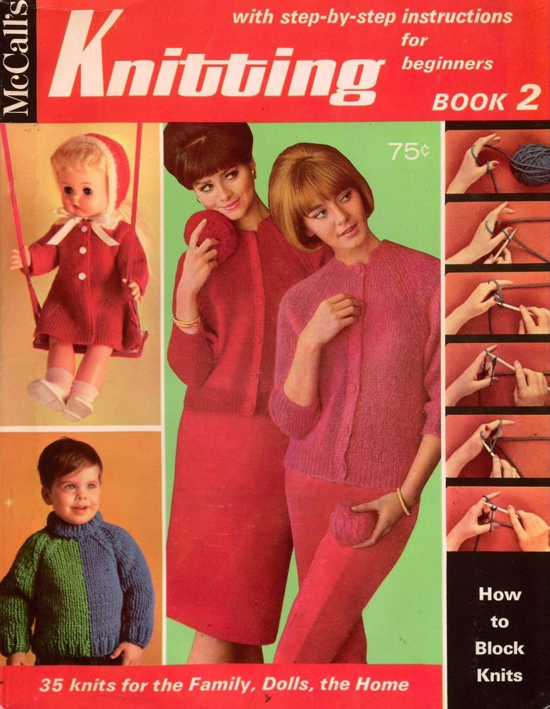 Mccalls Knitting Patterns Easy Beginner Sweaters Doll Baby Dog