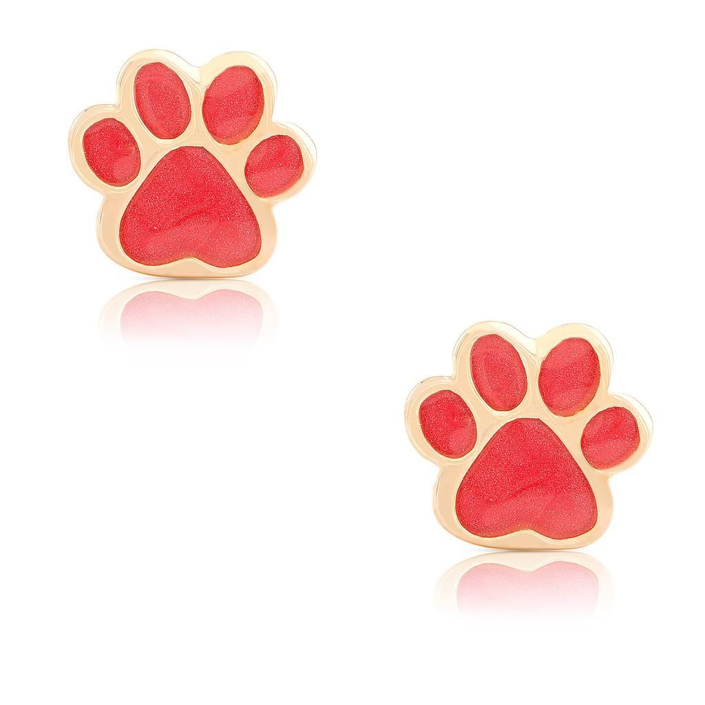 dog studs stud bling pmr jewelry puppy print sterling earrings silver paw