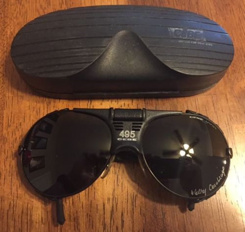 ce5f4e2725 Vintage-495-CEBE-4000-Glacier-Sunglasses-Walter-Cecclinel-Case-Included-RARE