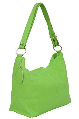 279dc43e29 Ambra Moda Sac à main pour Femme Porté épaule Modèle Hobo GL005. - Vert -