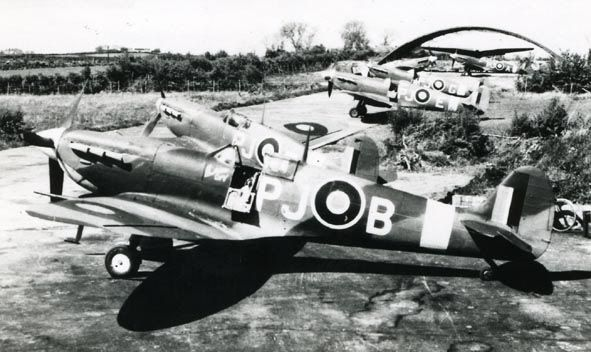Supermarine Spitfire Mk.V, PJ-B, 130 Squadron at Ballyhalbert in spring of 1943