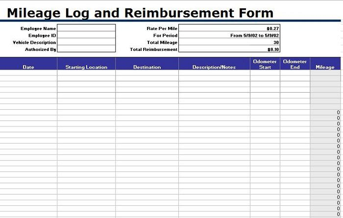 31 Printable Mileage Log Templates Free ᐅ Mileage Logging