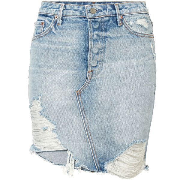 Rhoda Distressed Denim Mini Skirt - Mid denim GRLFRND Great Deals Cheap Online c5BAC0vcW