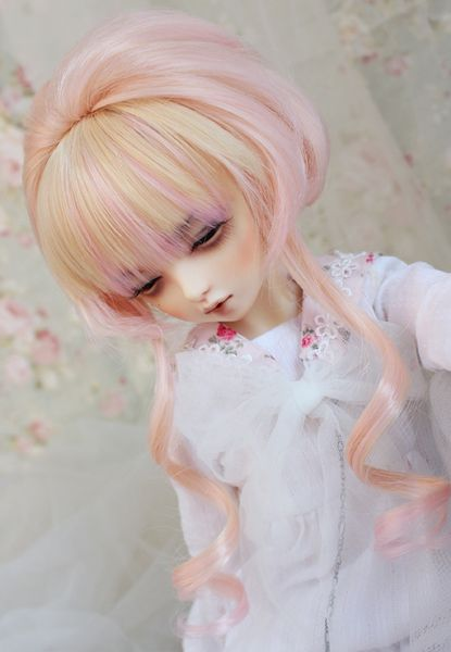 [Special clearance section] high temperature wire wig bjd golden peach [274]