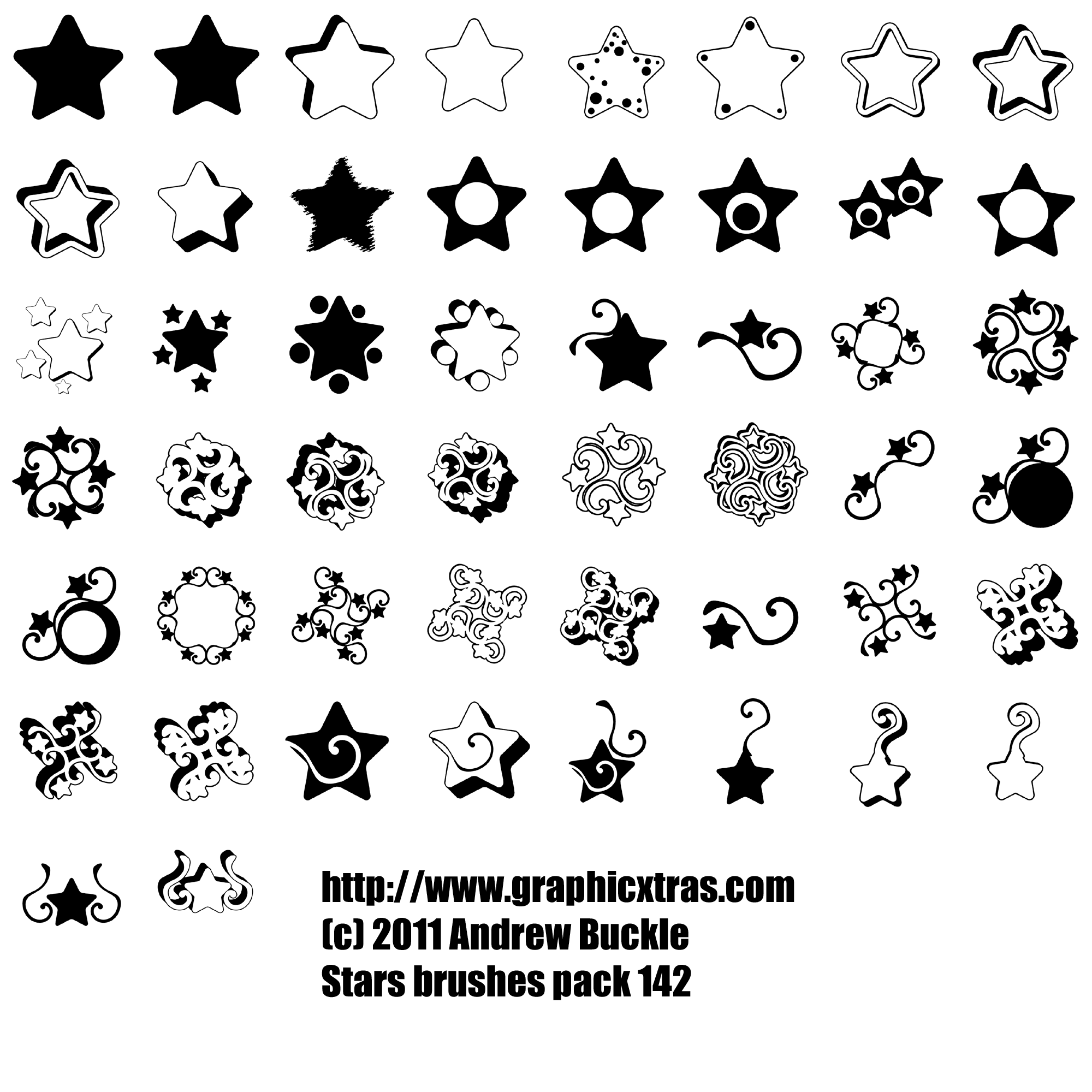 star-brushes-photoshop-elements-psp-gallery.png (2000×2000 ...