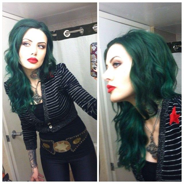 eyes fucked girl hair Black green