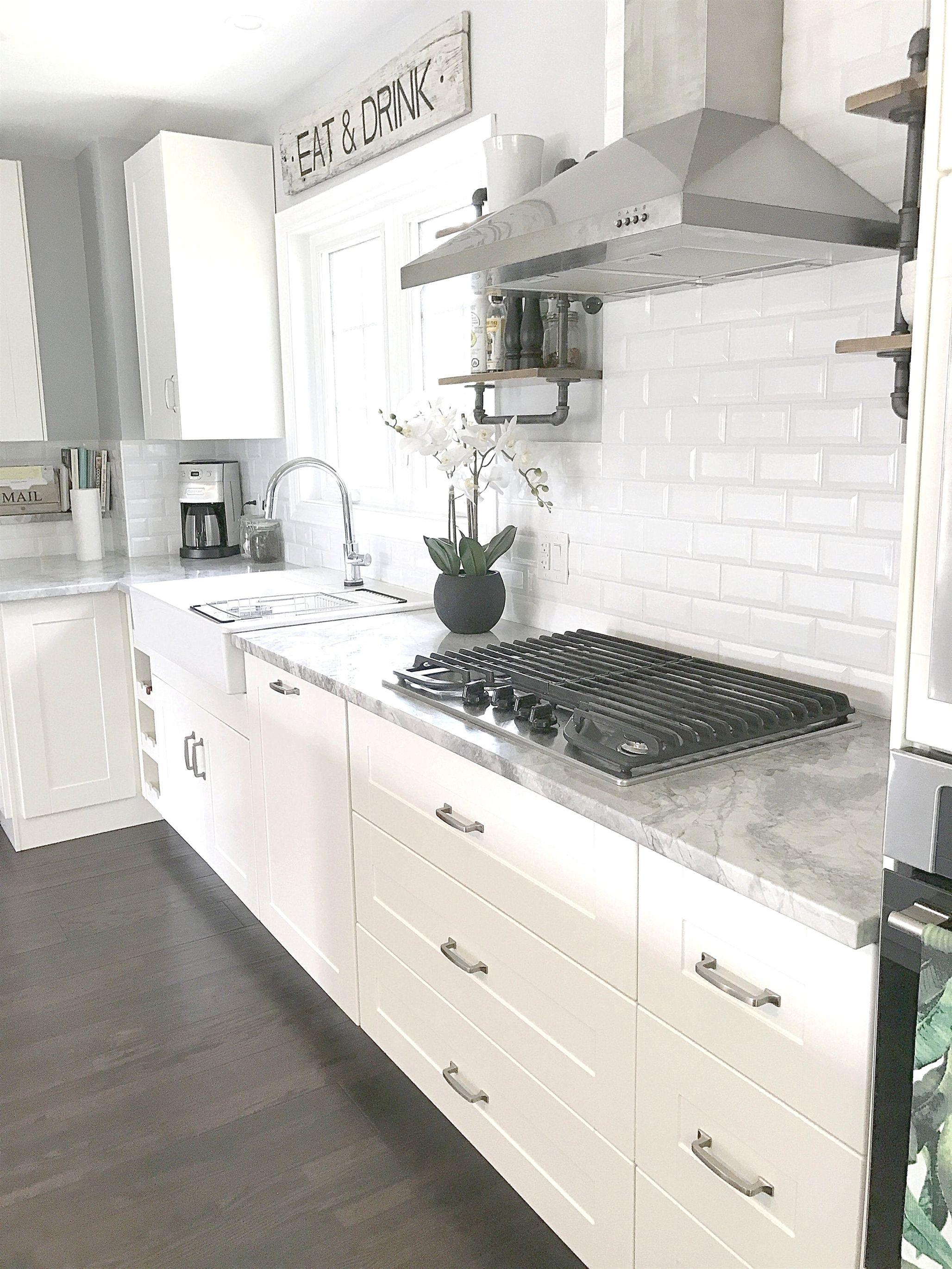 Ikea Kitchen White Grimslov Ikeakitcheninstallation Cheap Kitchen Remodel Diy Kitchen Renovation Kitchen Layout