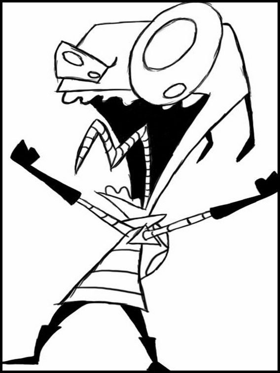 Invader Zim 4 Printable Coloring Pages For Kids Cute Coloring Pages Coloring Pages Invader Zim
