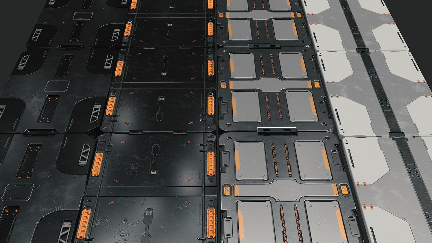 Free Sci-fi 3d models on Behance   Texture   Sci fi, Behance