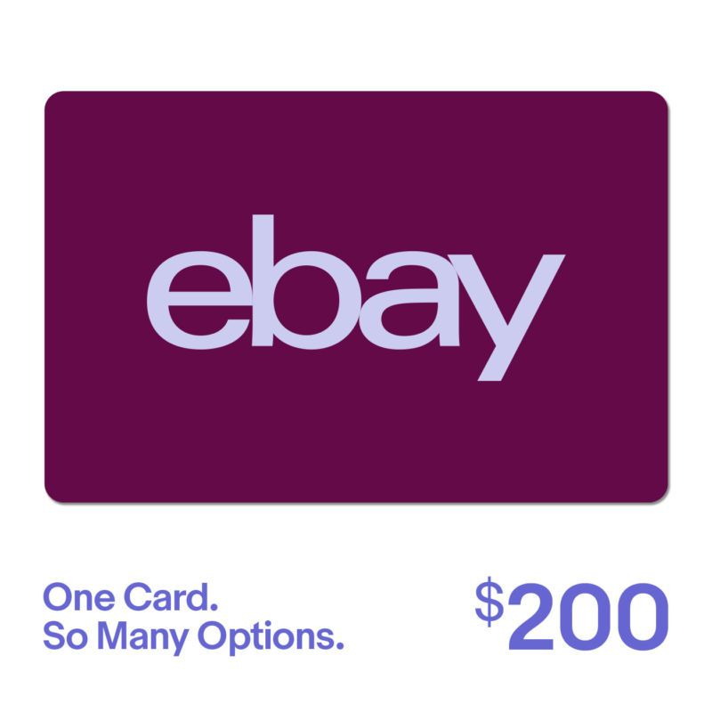 200 Ebay Gift Card One Card So Many Options Fast Email Delivery Us Only Delivered In Minutes Exceptions Apply Card Emai Ebay Gift Gift Card Cards