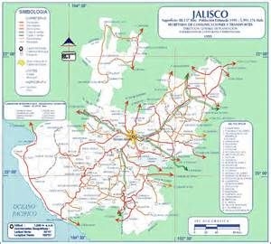 jalisco mexico road map mexico maps