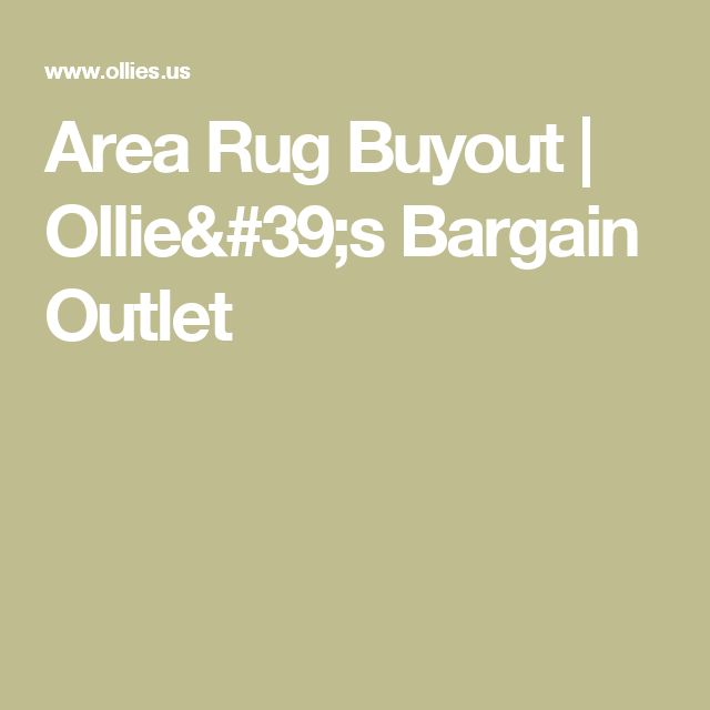 Area Rug Out Ollie 39 S Bargain