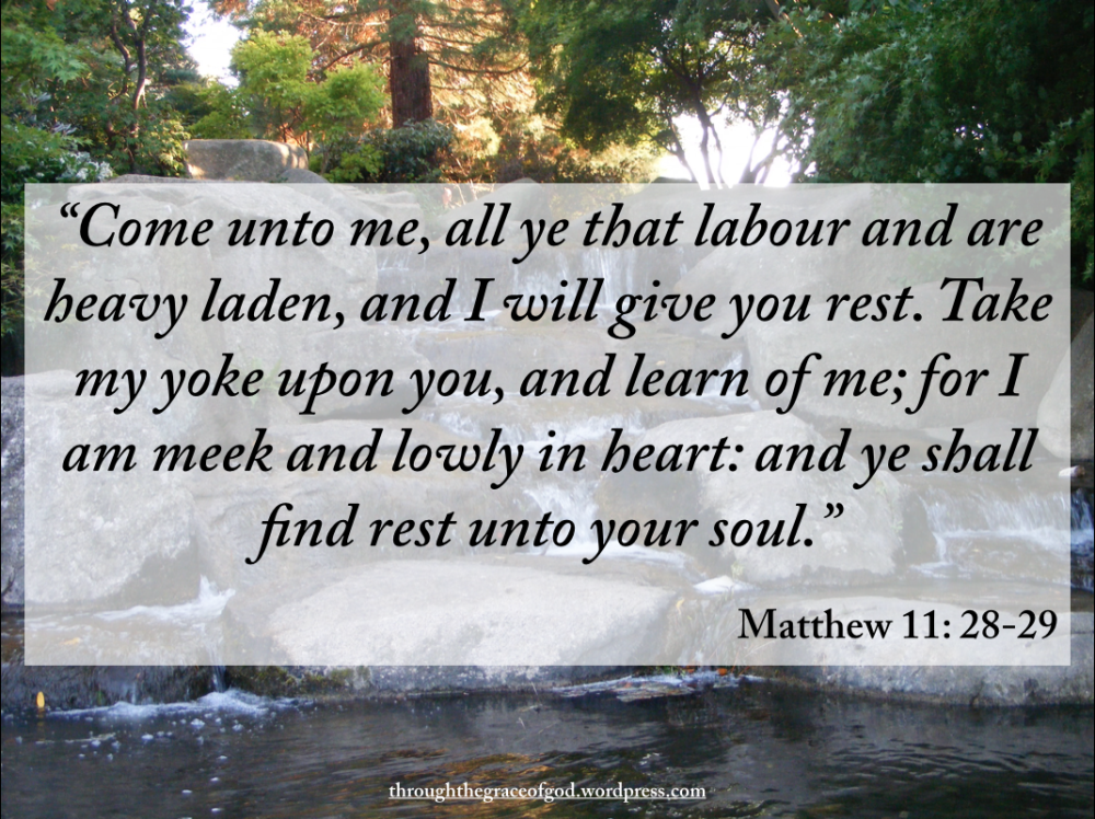 Will Heavy And You Me Are All Labor Come Who I And You Rest Laden Give 6